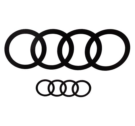 Dekalsats Audi ringar