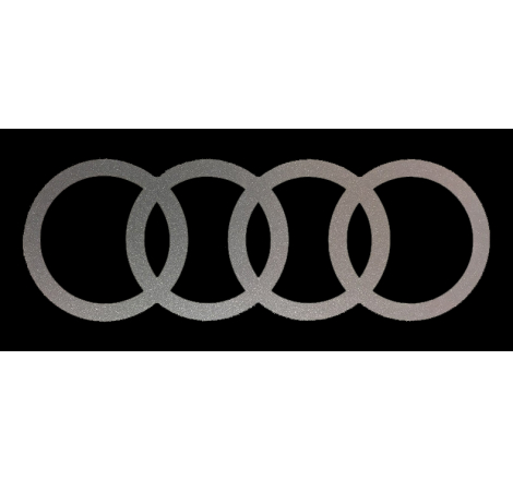 Dekalsats Audi Ringar Mod. mindre