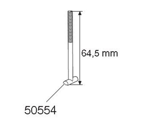T-skruv M6x64,5 mm till Cykelhållare Thule FreeRide 530 / 532 / Thule OutRide 561 / Thule Proride 591/598