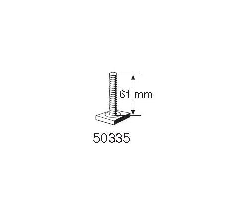 T-spårsskruv M6x61 mm till Cykelhållare Thule ProRide 591/598, UpRide
