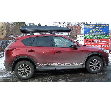 Takbox Packline F Elegance Svart högblank på Mazda CX-5