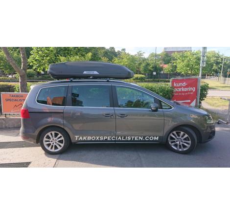 Takbox Hapro Trivor 640 Antracit helmatt på Volkswagen Sharan