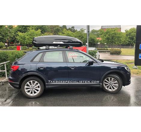 Takbox Hapro Trivor 440 Svart metallic på Audi Q3