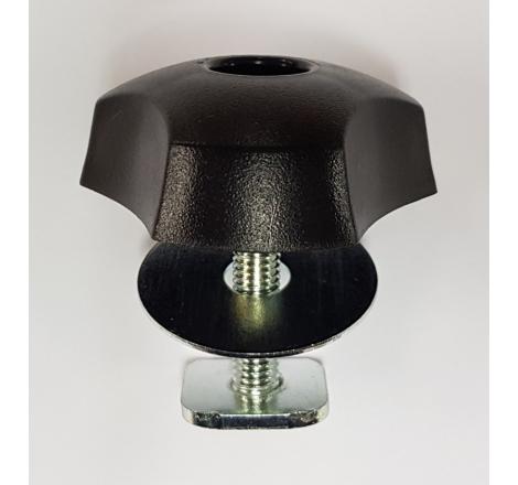 T-Spårs sats för Alu-rör 20x20 mm. Inkl. bricka