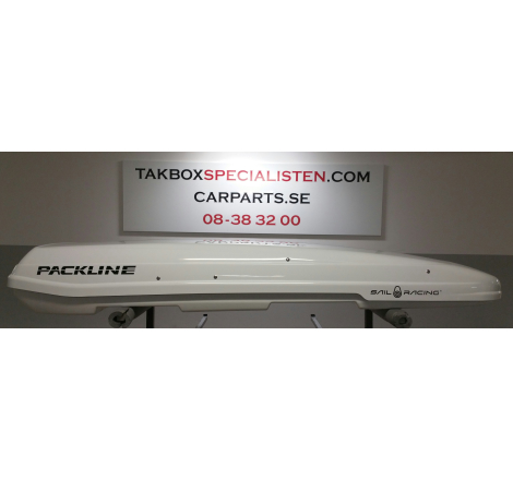 "Takbox Packline F Elegance Vit högblank ""Sail Racing "" Edition - 420 Liter"