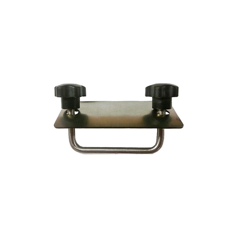 Monteringsbygel M8 c/c 90 mm. Bred platta. Rostfritt